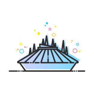 Space Mountain Clipart.