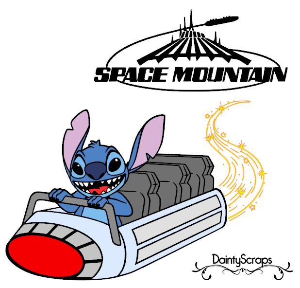 Disney Rides Space Mountain SVG DaintyScraps.com.