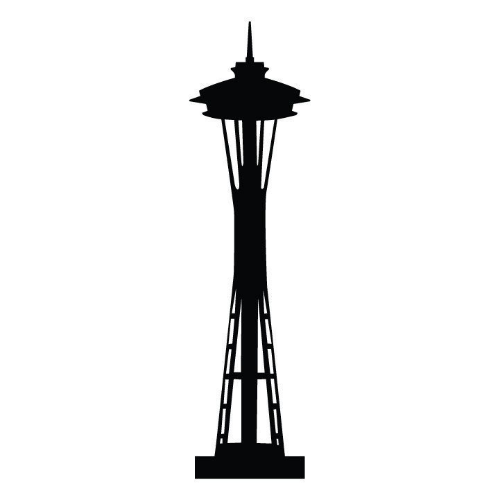 Space needle clipart.