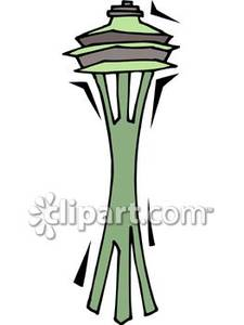 Space Needle Rocket Clipart.