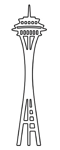 Space Needle Clip Art.