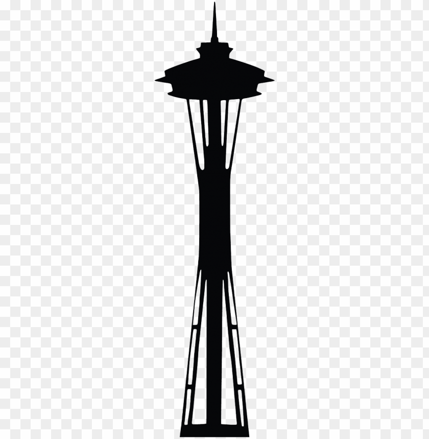 space needle PNG image with transparent background.