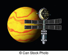 Stock Illustration of space probe.