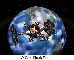 Clip Art of Space probe.