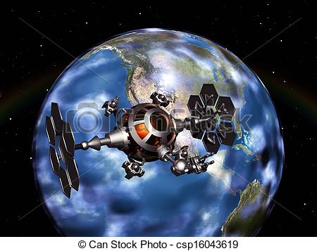 Space probe Clipart and Stock Illustrations. 379 Space probe.