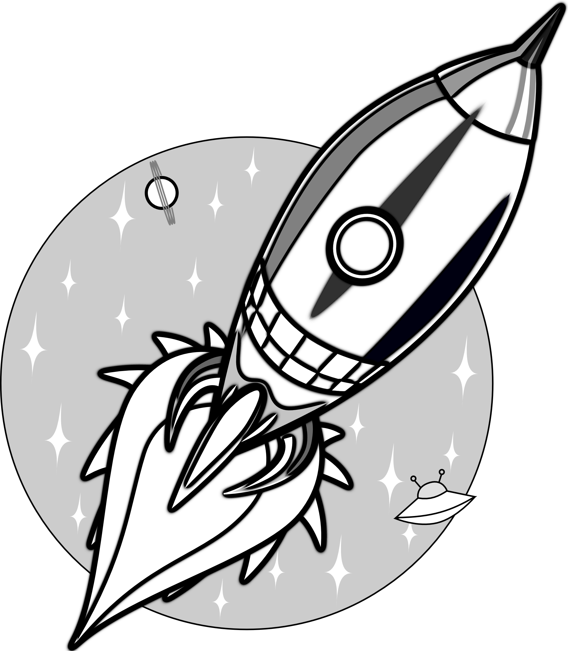 Images For > Rocket Clip Art Black And White in 2019.