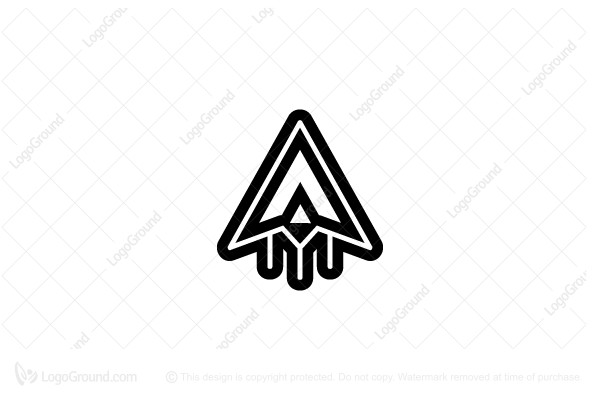 Exclusive Logo 66397, Space Ship Logo.
