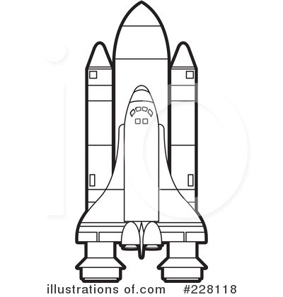 Space Shuttle Clipart Black And White.