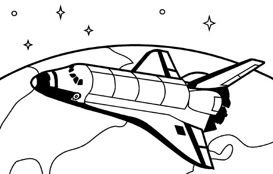 Free Space Shuttle Clipart Black And White, Download Free.