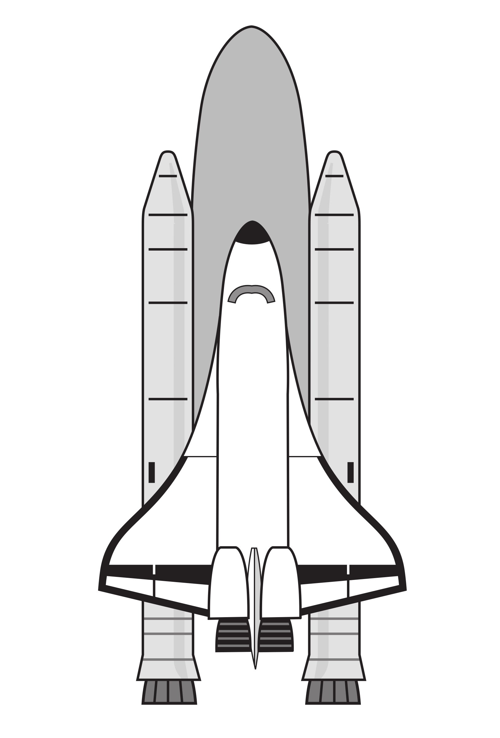 Space shuttle clipart black and white 3 » Clipart Portal.