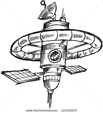 Space Station Vector Illustration Art Stock Vector 110805323.
