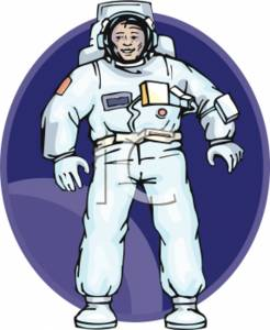Clipart Picture of an Astronaut In a Space Suit.