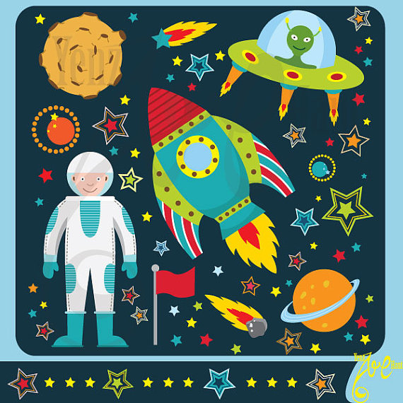 Outer space clipart:\