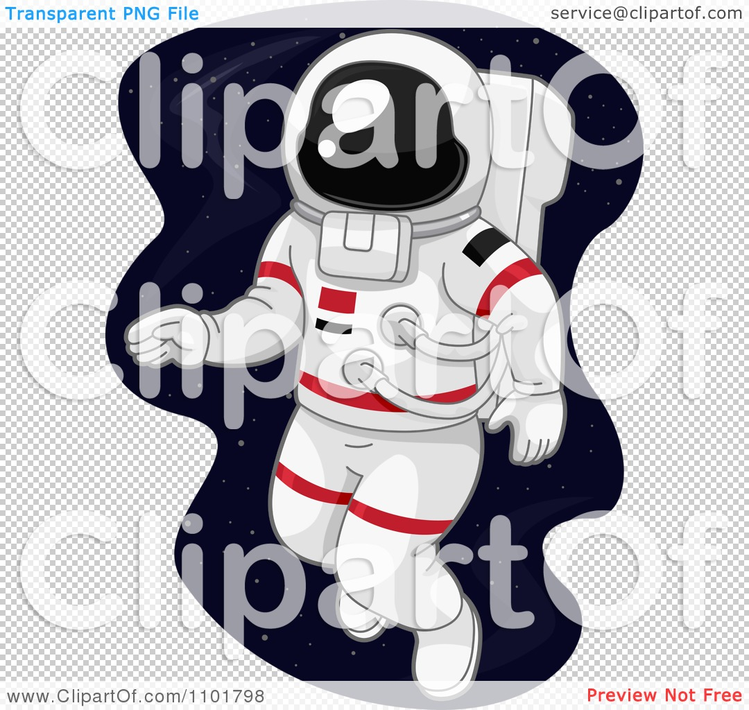 Clipart Astronaut Doing A Space Walk.