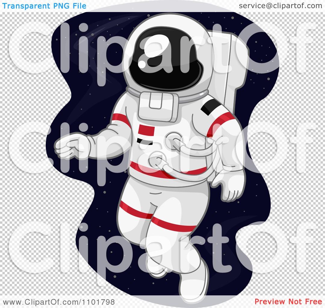 Clipart Astronaut Doing A Space Walk.