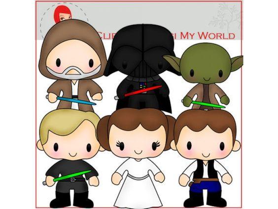 Star Wars Clip Art by Digi My World.