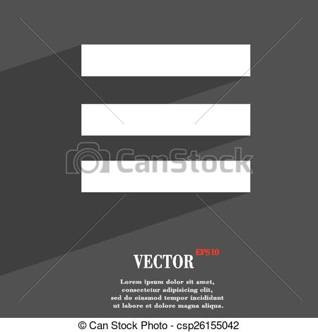 EPS Vector of Align text to the width icon symbol Flat modern web.
