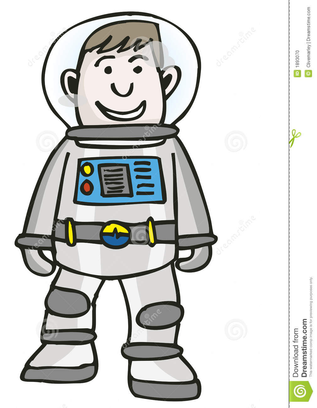 Spaceman Stock Photo.