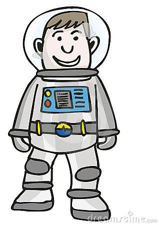 Spaceman clip art.
