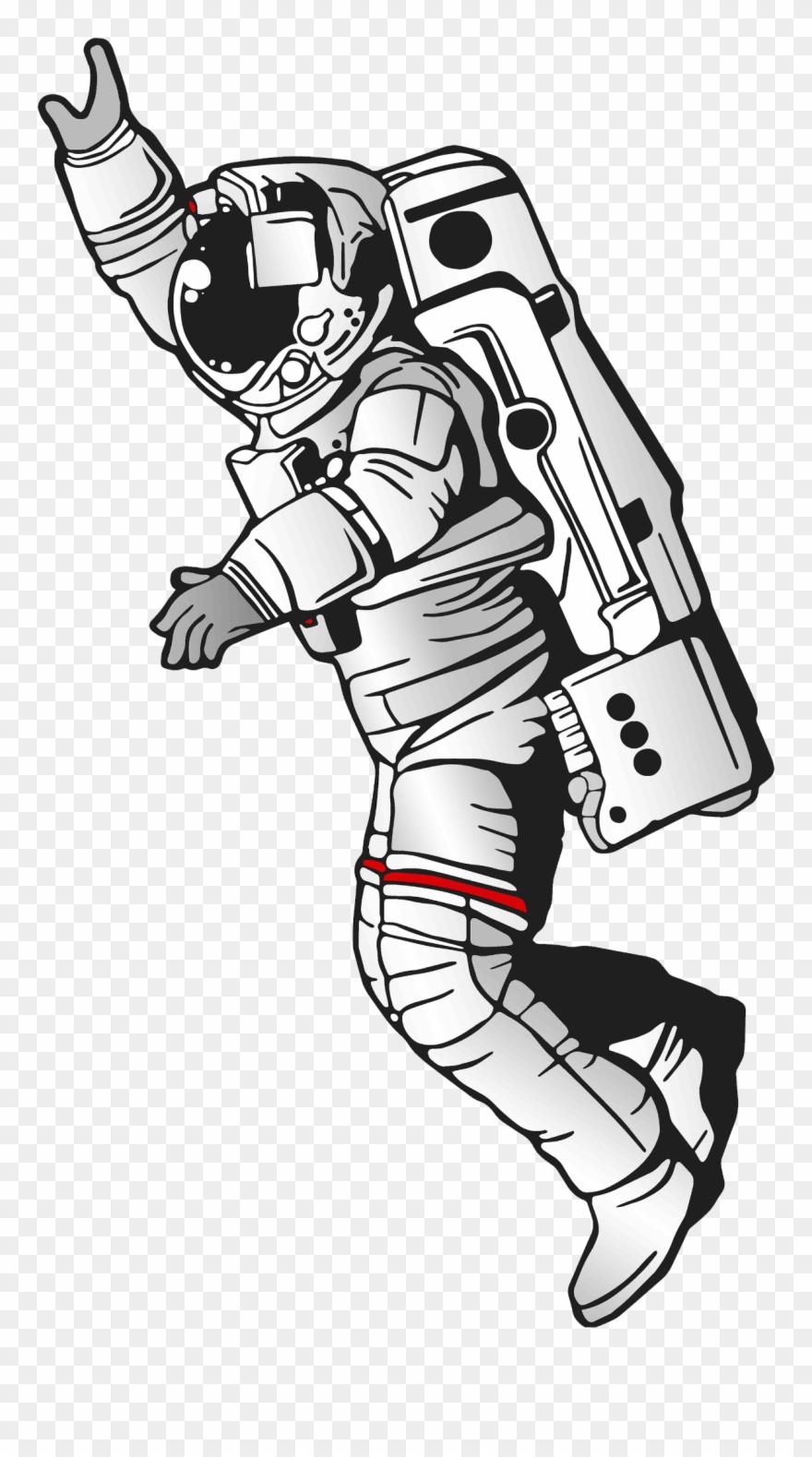 Spaceman Silhouette Clip Art.