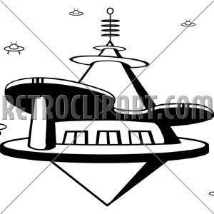 Space Port, RetroClipArt.com.