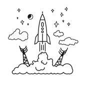 Spaceport Clip Art.