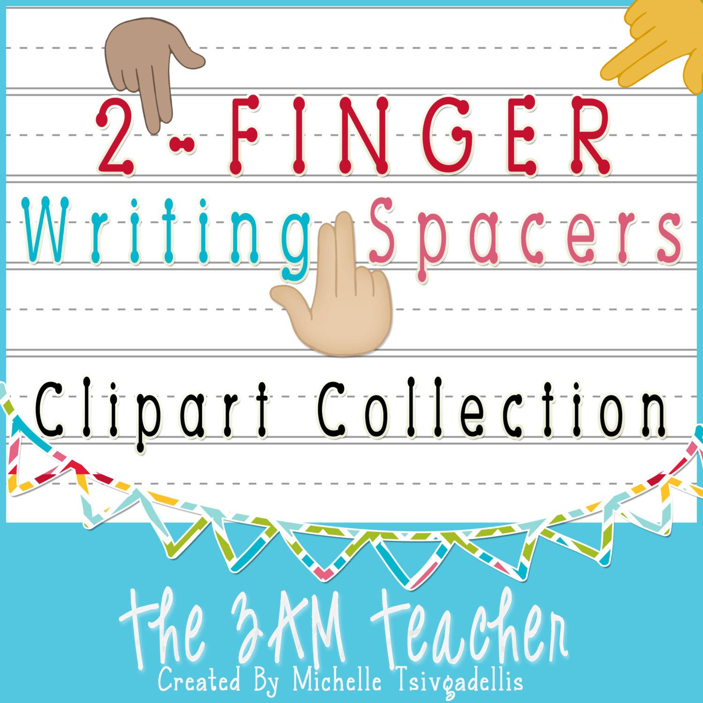 Finger Spaces Clipart.