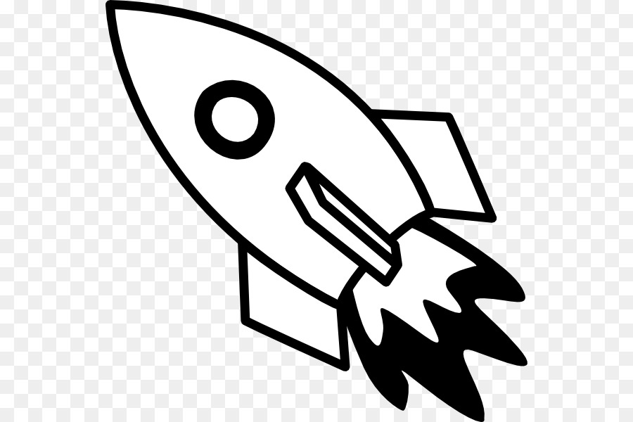 Download Free png Rocket Spacecraft Black and white Clip art.