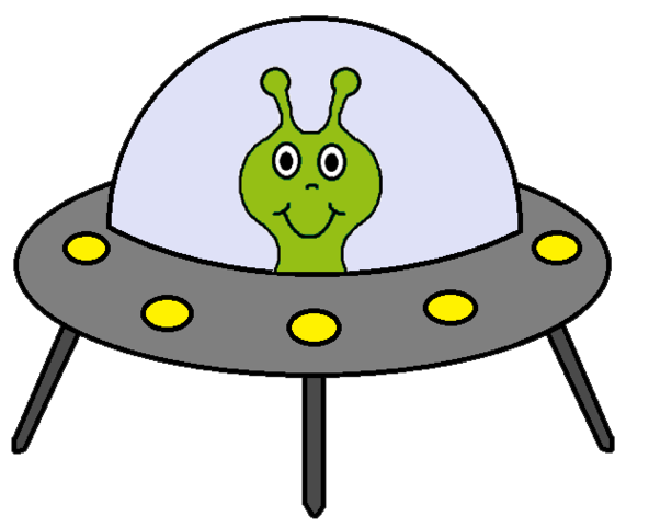 Alien Spaceship Clipart.