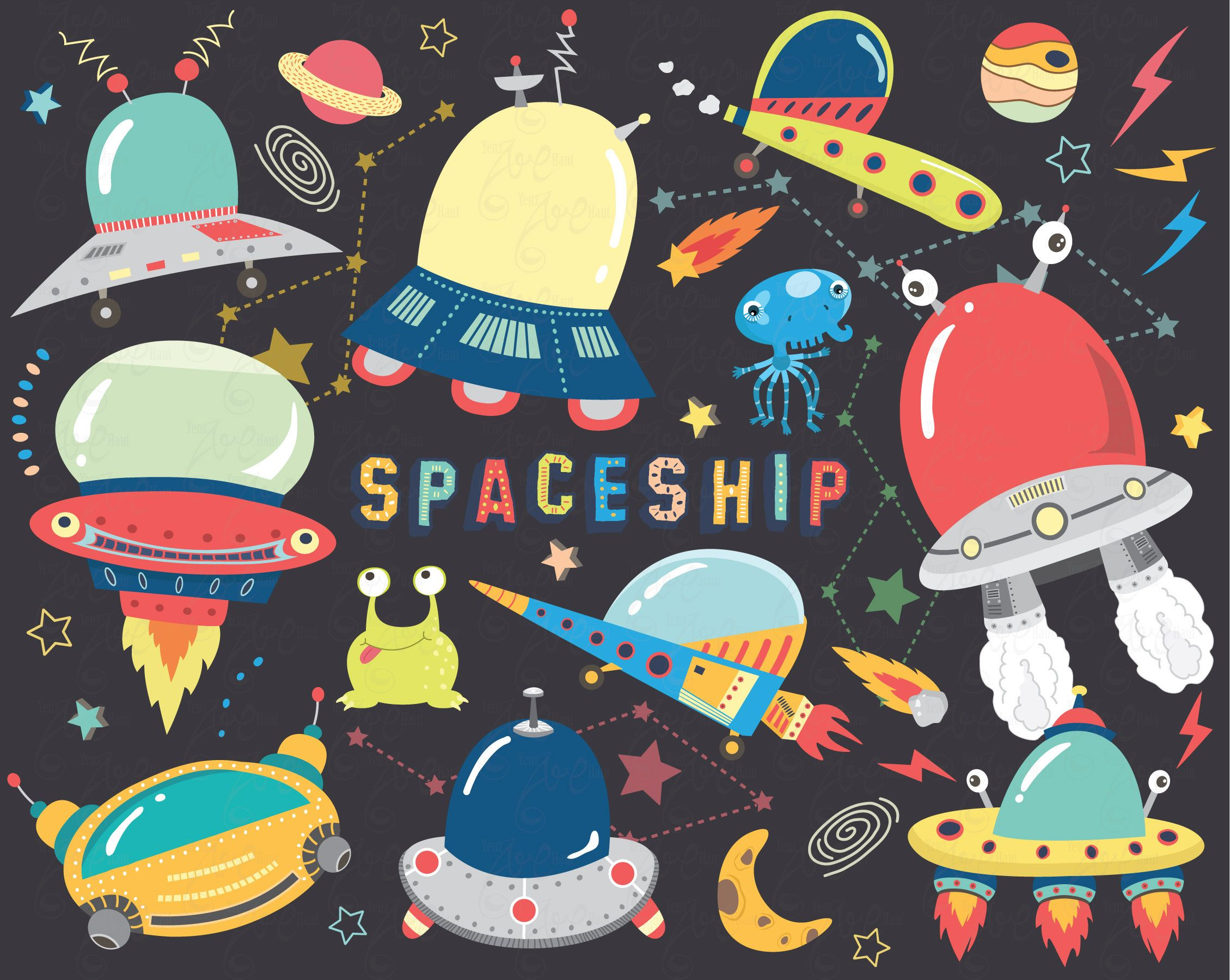 Space ship clipart.