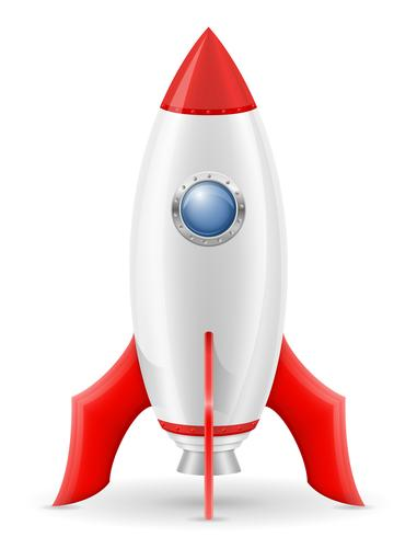 space rocket retro spaceship vector illustration.