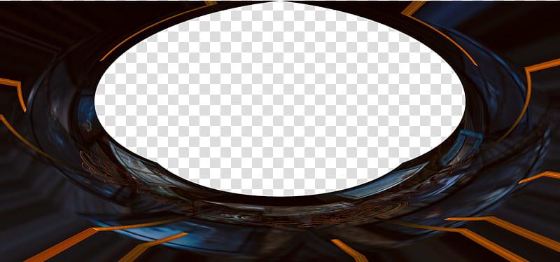 Wide Spaceship door, black and orange transparent background.