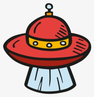 Free Alien Spaceship Clip Art with No Background.