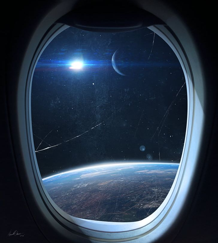 Window International Space Station Outer Space Spacecraft.