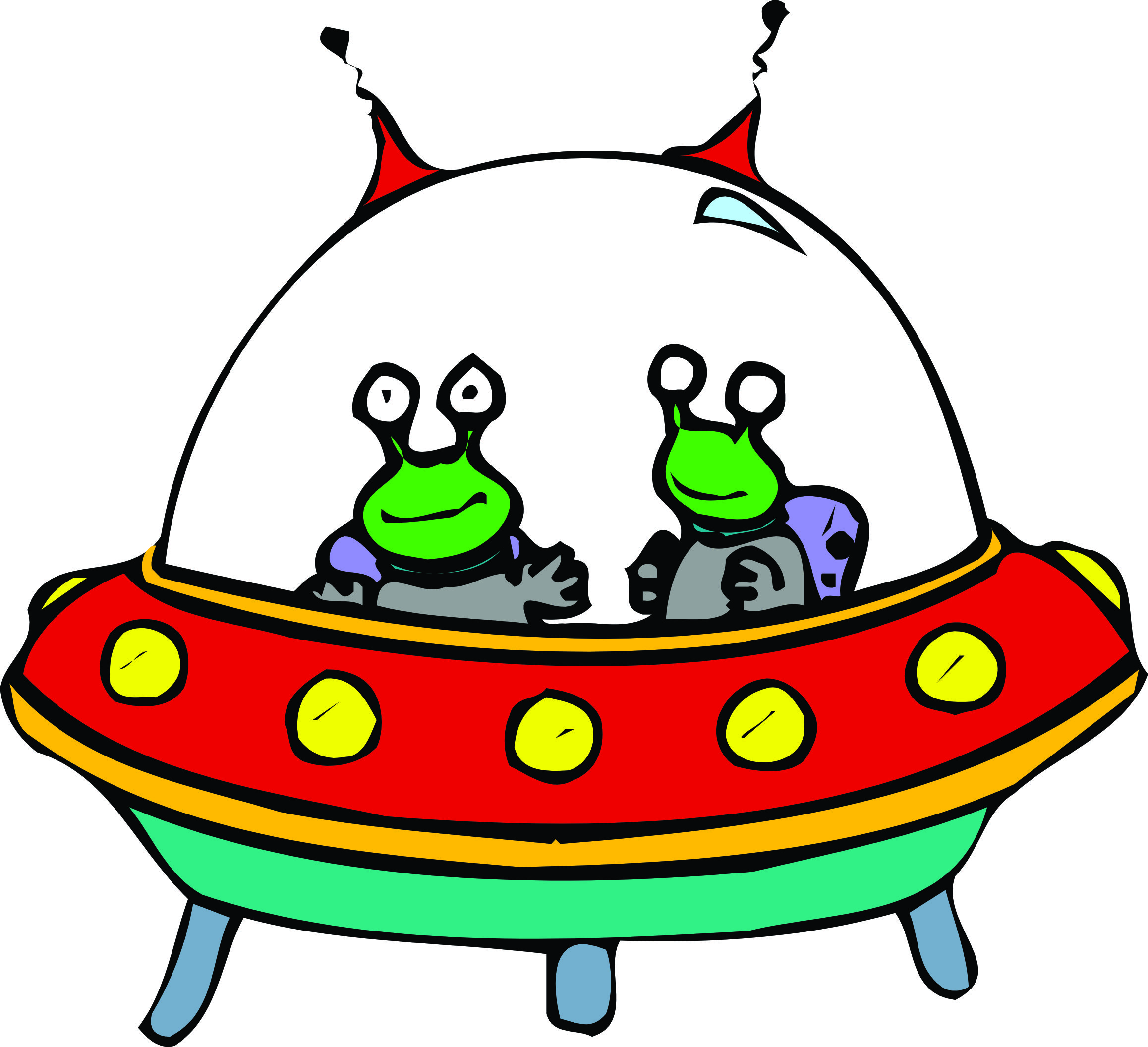 Spaceships clipart.