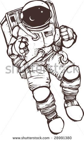Astronaut Space Suit Clipart.