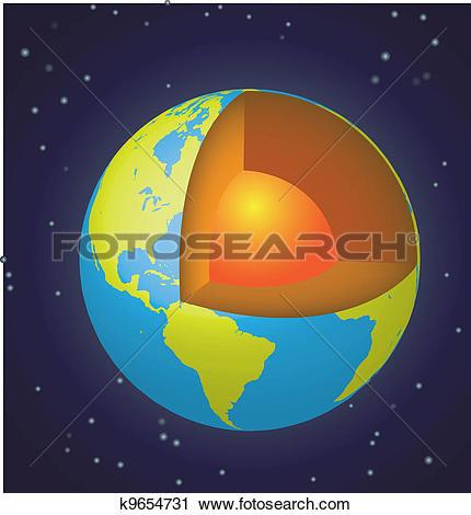 Clipart of Earth cut.