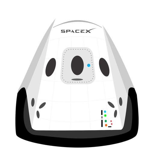 Spacex spacecraft icon.