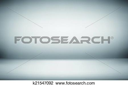Clipart of gradient wall and flat floor in empty spacious room.