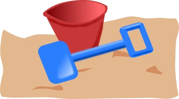 Bucket And Spade clip art Free vector in Open office drawing svg.