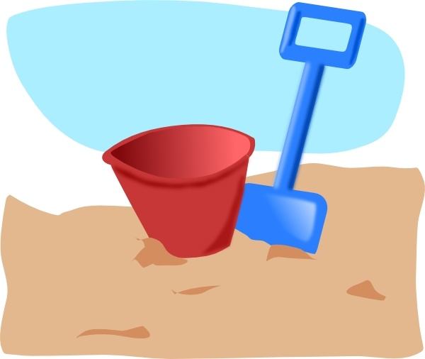 Bucket And Spade clip art Free vector in Open office drawing.