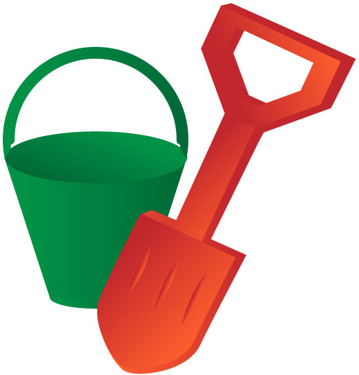 Bucket and spade clipart 9 » Clipart Station.