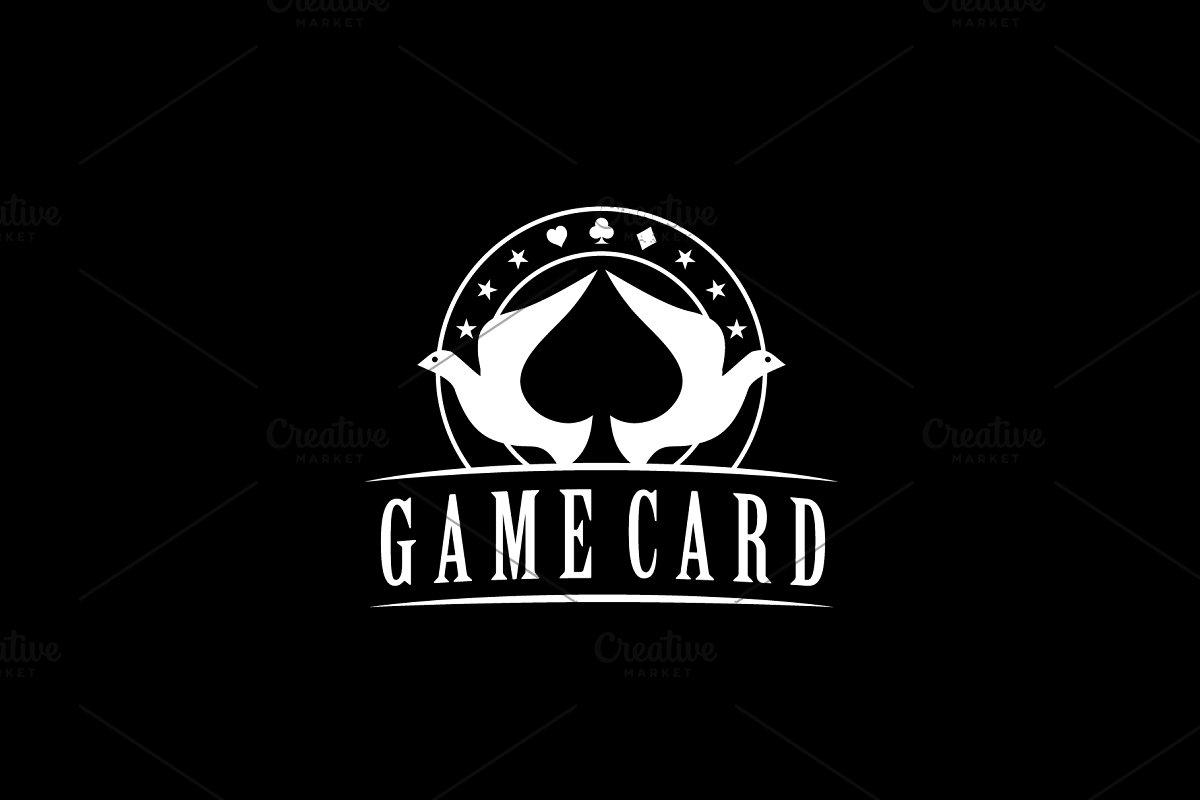 Dove Spade Poker logo design.