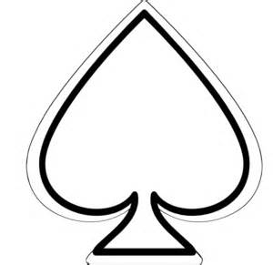 Similiar Ace Of Spades Outline Keywords.