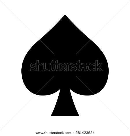 Playing spades clipart.