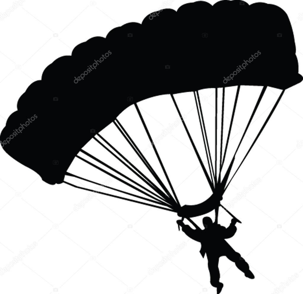 Sylwetka spadochroniarz — Grafika wektorowa © violeta #2184011.