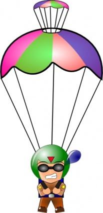 Paratrooper clip art wektor, darmowe grafiki wektorowe.