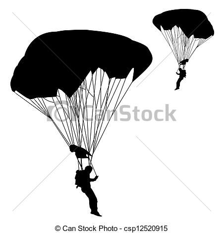 Vector Clip Art of jumper, black and white silhouettes vector.