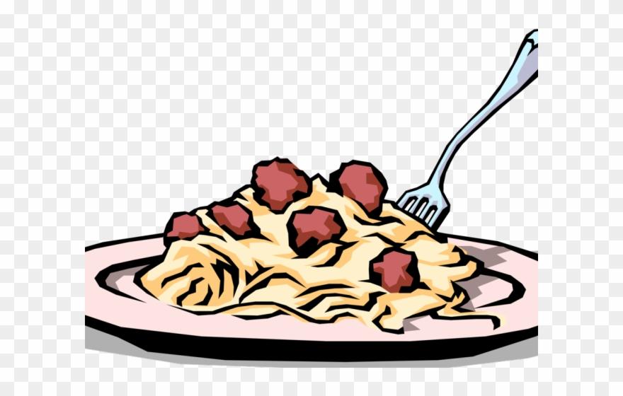 Drawn Pasta Spaghetti Meatball Clipart (#2656207).