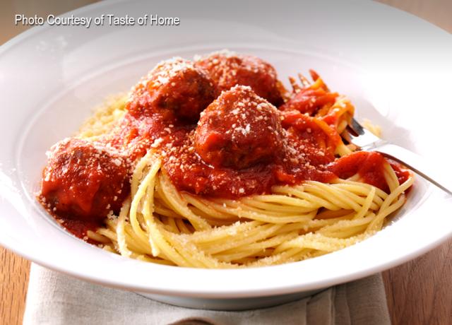 Italian Spaghetti & Meatballs.